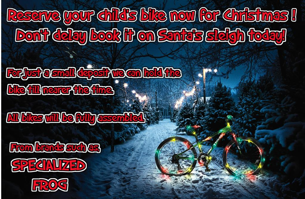 Reserve your bike for Christmas Now!