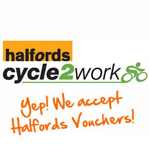 We now accept Halfords Vouchers