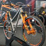 Orange T9 titanium show bike