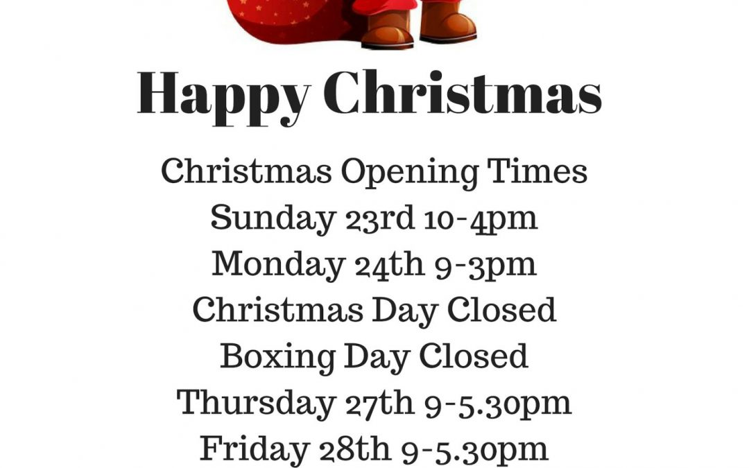 Christmas Openeing Times