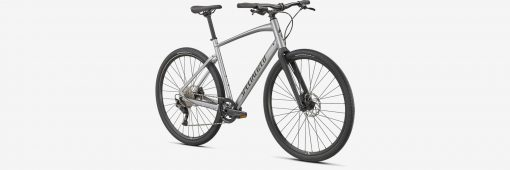 Specialized Sirrus X 3.0 Silver 2021 3/4 view